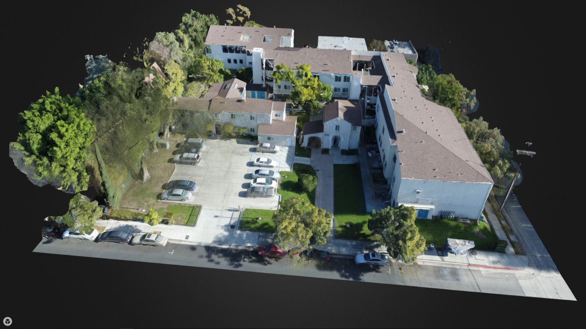 3D model of a residential community