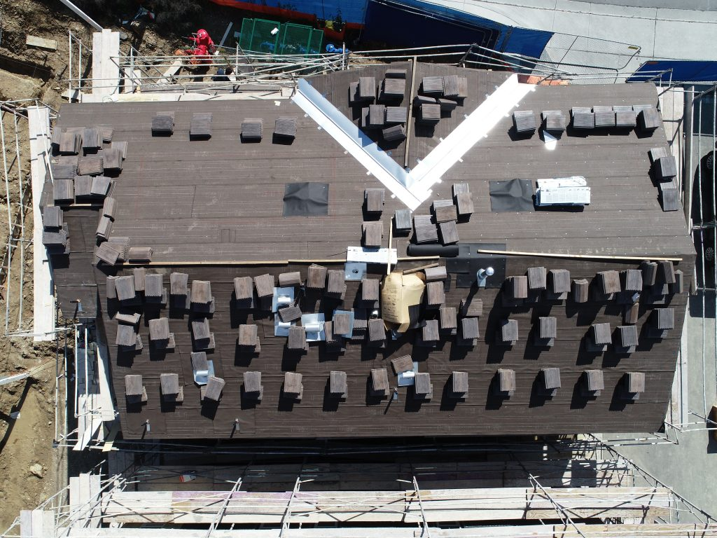 bird's eye view of rooftop