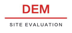 DEM Site Evaluation logo